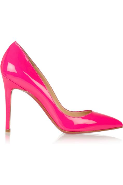 pink patent high heels hot pink patent heels is heel