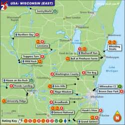 wisconsin east golf map with top golf courses and best