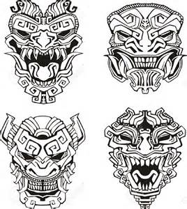 billedresultat for witch doctor mask voodoo lineart