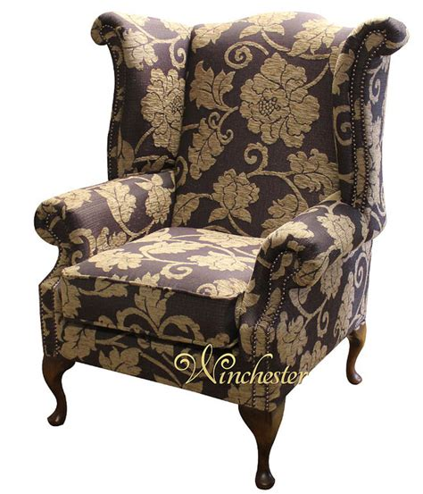 traditional fabric high back sofas chesterfield saxon fabric queen anne high back wing chair