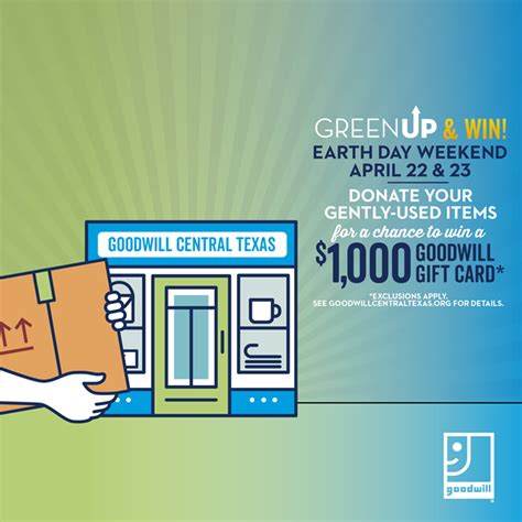Does Goodwill Have Gift Cards - green up with goodwill this earth day our blog goodwill of central texas