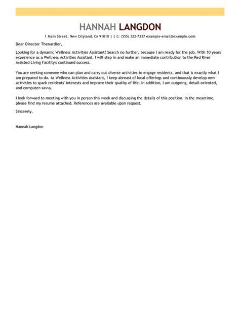 Cover Letter For Senior Living Receptionist assisted living resume cover letter