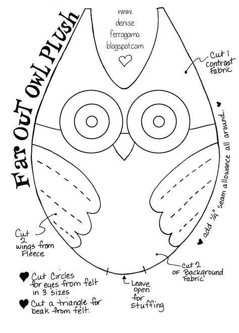 owl templates for sewing diy make this owl plushie with my