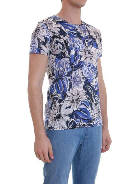 roberto cavalli floral print cotton t shirt t shirts cm700a 2458 401