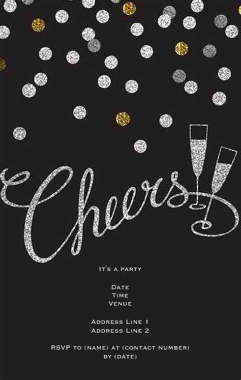 new year invite templates free 8 diy new years invitations diy crafts
