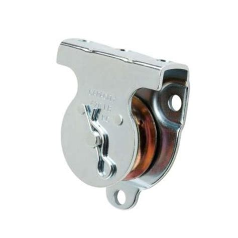 crown bolt 1 1 2 in zinc plated wall ceiling mount pulley
