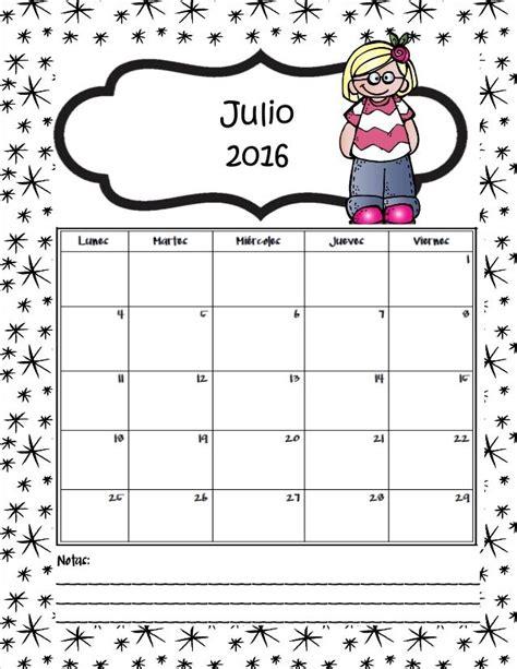 Calendario X Mes 2016 Calendario 2016 Julio Y Agosto Concordia