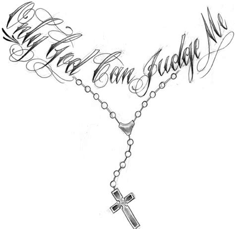 only god can judge me tattoo design only god can judge me rosary necklace design