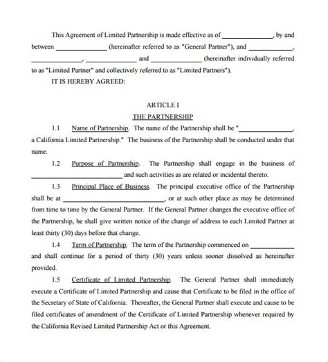 general partnership agreement template sle general partnership agreement 11 documents in