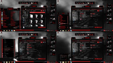 black themes for windows 8 windows 7 themes black ultra dark by customizewin7 on