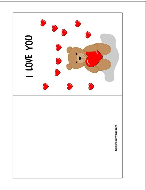 printable greeting cards template card invitation design ideas valentines day card