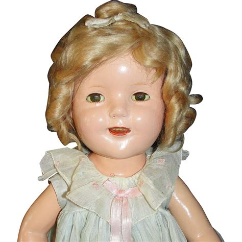 composition shirley temple doll 20 quot shirley temple composition doll by ideal year