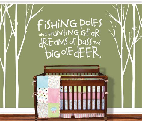 Wall Decal Stickers Quotes vinylthingz hunting fishing deer baby fishing pole
