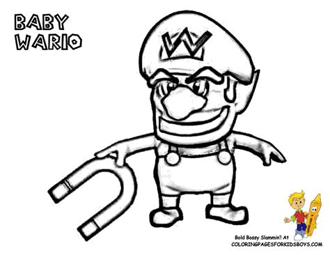 baby wario coloring pages cool mario pictures coloring mario bros free cartoon