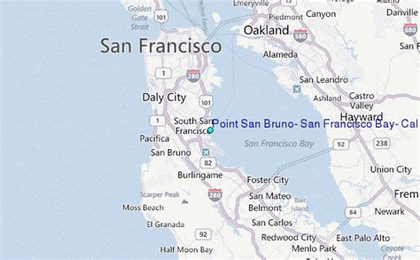 san francisco map location point san bruno san francisco bay california tide