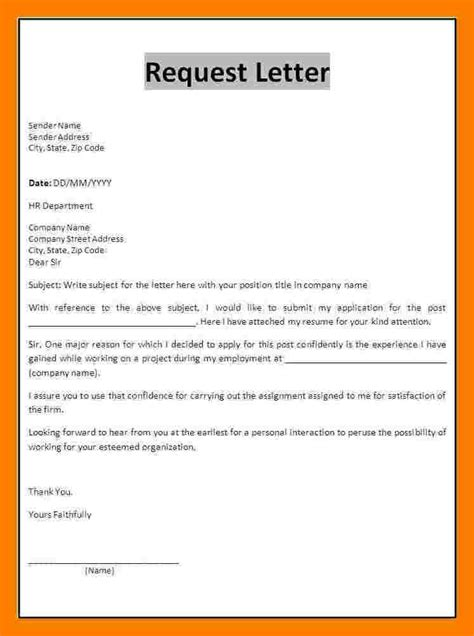 Request Letter Format In Sle Format A Letter 58 Images The Format Of A Friendly Letter Best Template Collection Format
