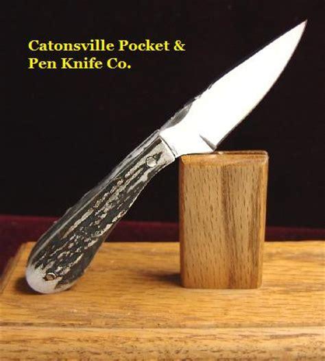 Handmade Pen Knives - catonsville pocket pen knife co 5 quot custom made stag
