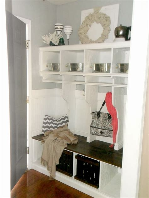 entryway cubbies remodelaholic diy entryway mudroom with cubbies for