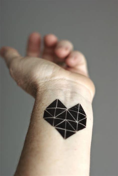 tattoo geometric heart oleander and palm make custom temporary tattoos with makr