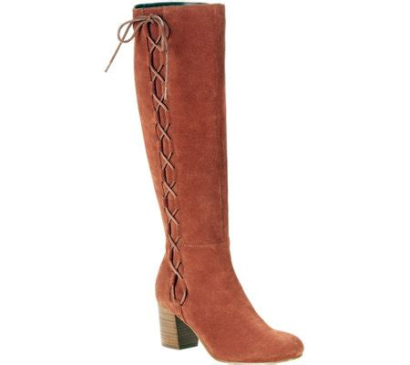 sole society boots sole society suede lace up boots arabella qvc