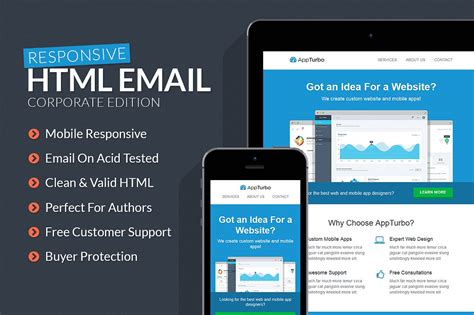 appturbo html email template html css themes