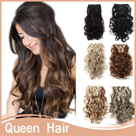 150g hair extensions gift 7pcs set 50 20inch beautiful curly clip in