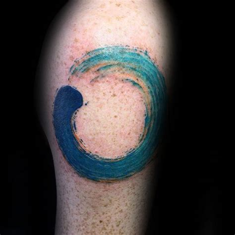 circle of life tattoo designs circle of water waves enso mens arm