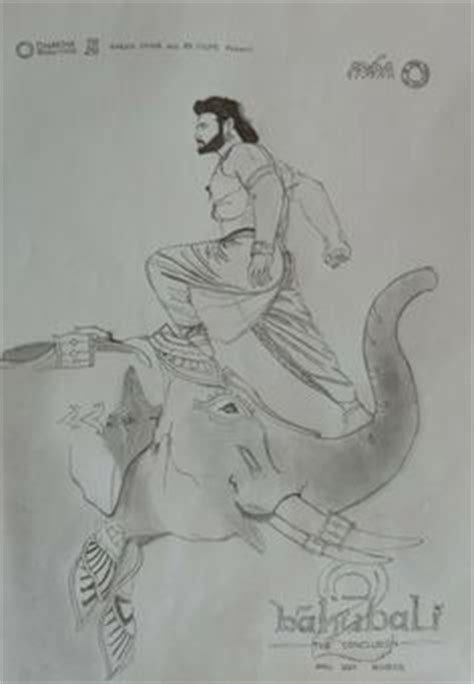 Bahubali 2 Sketches by Anushka S Devasena Look Released By Director Ss