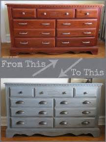 Dresser makeover with americana decor chalky finish paint average but