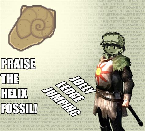 Helix Fossil Meme - praise the helix fossil twitch plays pokemon know your meme