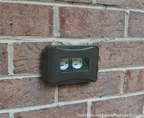 backyard outlet outdoor outlet for large plugs