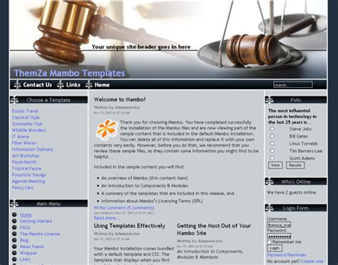 blogger templates for lawyers free templates blog 187 mambo 187 new mambo themes for sites