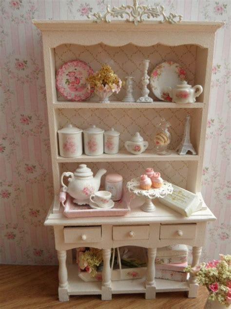 dollhouse shabby chic kitchen hutch 1 12 scale shabby