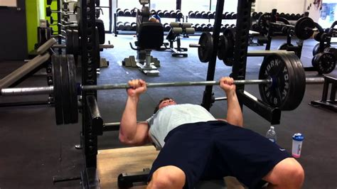 bench press 315 marc antoine ouellet off pins bench press 315 lbs x 2