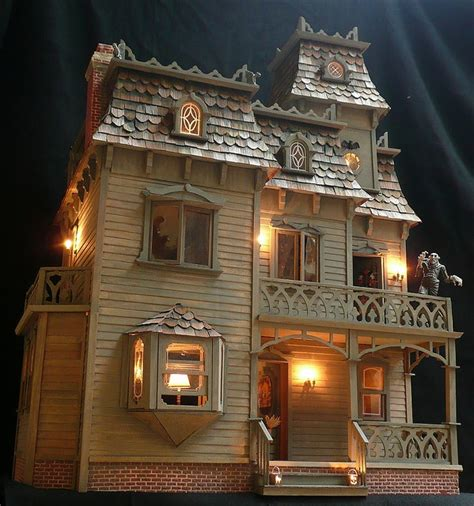 halloween doll house haunted dollhouse craft pinterest