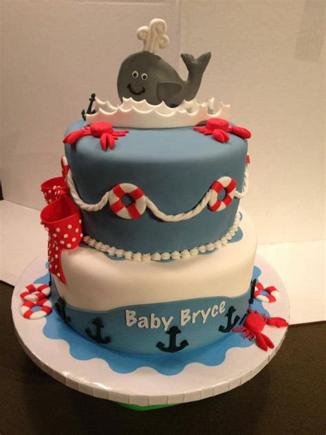 Nautical Baby Shower Cakes by Baby Shower Bits Bites From The Cake