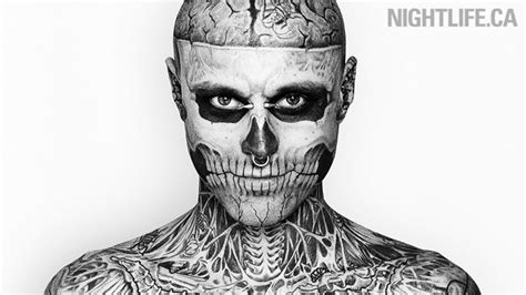 man with full body zombie tattoo rico smiling rick genest photo 20506548 fanpop
