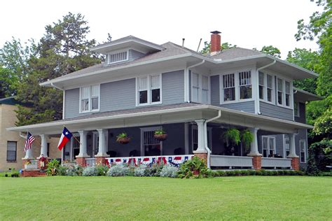 american foursquare house with flags swiss avenue dallas