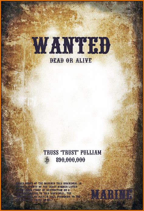 wanted posters template authorizationlettersorg