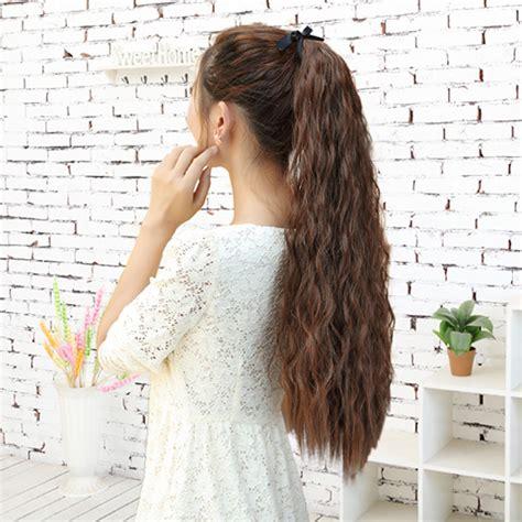 tying of long hair aliexpress com buy women s long corn stigma style curly