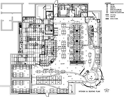Hotel Kitchen Layout Drawings by Coffee Shop Floor Plan Layout Design Ideas For House