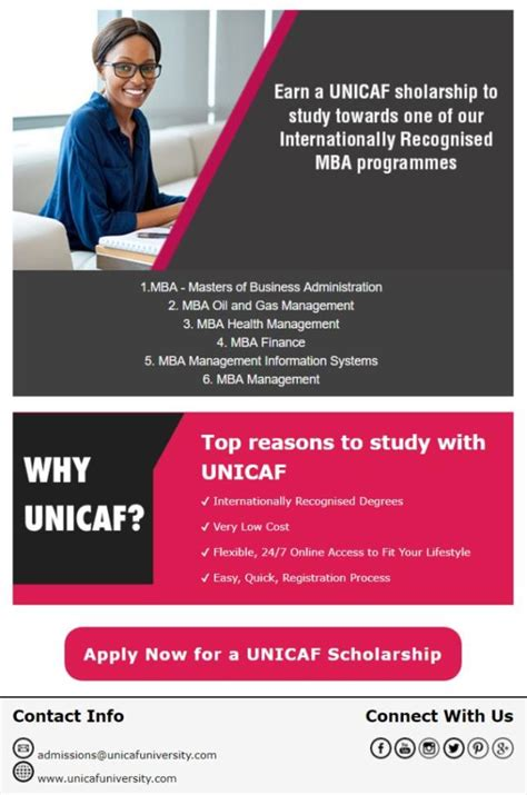 Unicaf Mba by Earn A Unicaf Scholarship To Study Towards Internationally