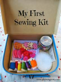 sewing crafts for gifts play eat grow diy sewing kit great gift idea for