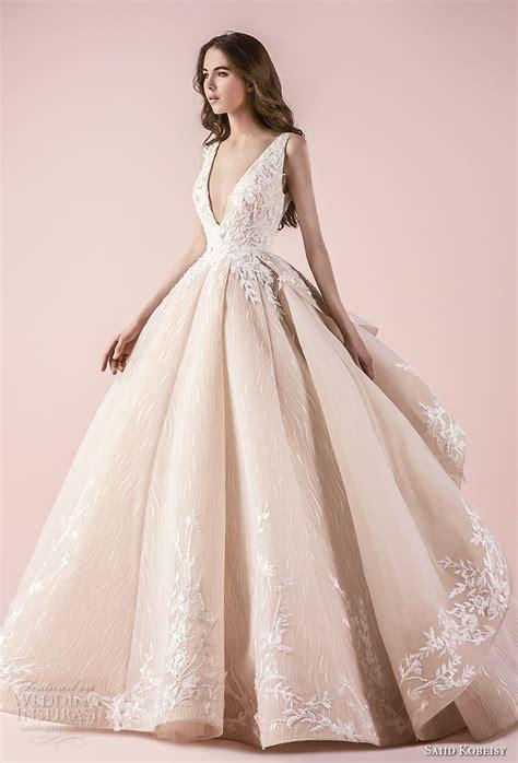 Brautkleider Blush by Saiid Kobeisy 2018 Wedding Dresses Blush Color