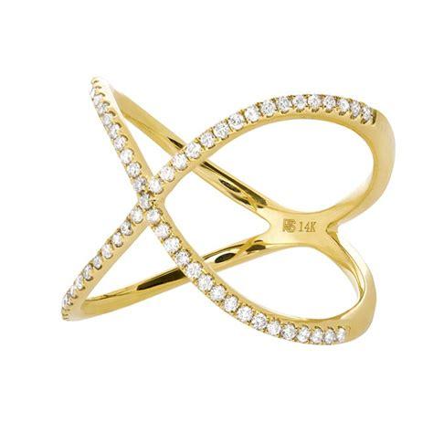 14k yellow gold infinity x ring