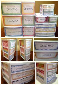 5 Drawer Mini Sterilite Organizing Labels Organizing Labels Classroom Freebies And Drawers Sterilite Drawer Label Template