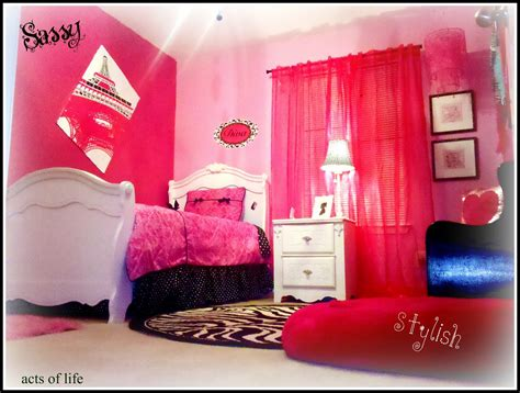 hot pink bedrooms acts of life hot pink bedroom my daughters bedroom project