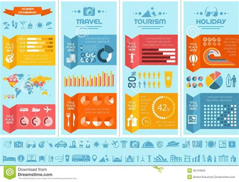 Travel Infographic Template Stock Vector Illustration Of Presentation Flattened 35154840 Travel Infographic Template
