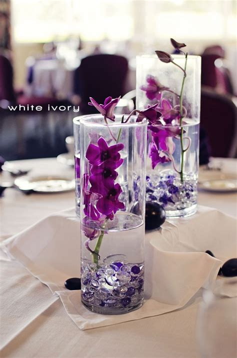 centerpieces with orchids purple orchid centerpieces inspiration wedding