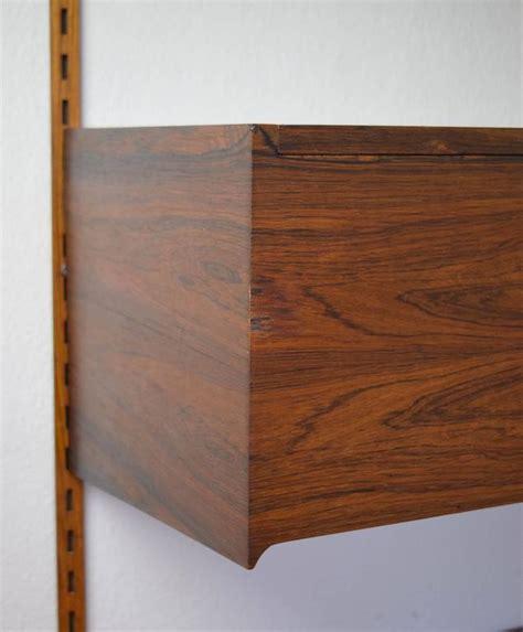 Kai Kristiansen Rosewood Hanging Record Player Cabinet at